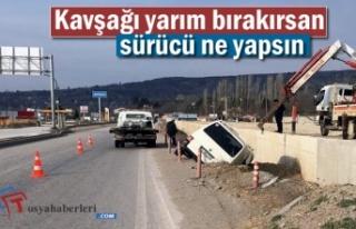 Tosya-Çankırı Kavşağında Trafik Kazası
