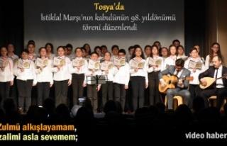 Tosya'da İstiklal Marşı'nın kabulünün...