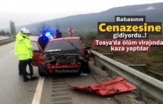 Ordu'ya Cenazeye Giden Otomobil Tosya'da...
