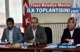 Tosya Belediye Meclisi İlk Toplantısını Yaptı