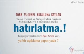 TOBB Başkanın Tosya'ya Verdiği ''OKUL...