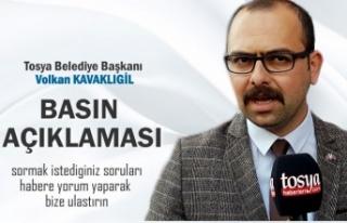 Tosya Belediye Başkanı Volkan Kavaklıgil Basın...