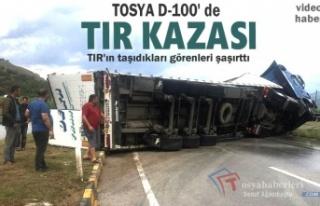 TOSYA D-100 KARAYOLU TIR KAZASI ( Video Haber )