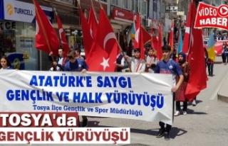 Tosya'da Gençlik Yürüyüşü Yapıldı