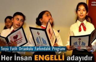 Tosya Fatih Ortaokul Engelliler Haftası Programı