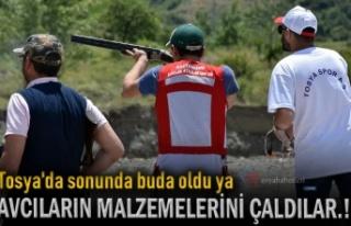 Tosya'da Avcıların Malzemesi Çalındı