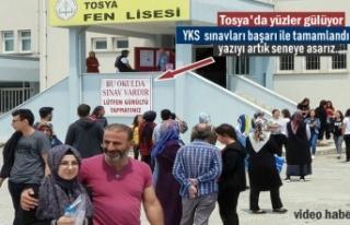 Tosya'da İlk defa yapılan YKS ve AYT sınavları...