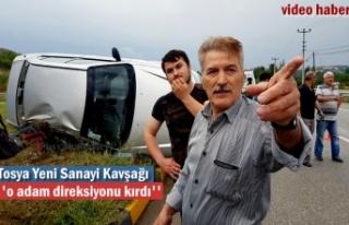 Tosya Yeni Sanayi Kavşağında Feci Trafik Kazası