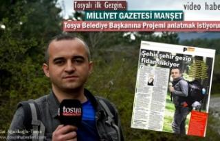 Tosyalı Gezginin Projesi Ulusal Gazeteye Manşet...