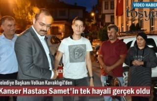 Başkan Volkan Kavaklıgil Kanser Hastası Samet'in...