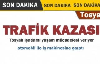 SON DAKİKA - TOSYALI İŞADAMI TRAFİK KAZASI GEÇİRDİ
