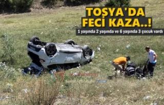 TOSYA'DA FECİ TRAFİK KAZASI