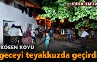 Tosya Kösen Köyünde Yangın Sonrası vatandaşlar...