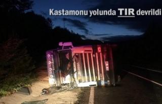 KASTAMONU YOLUNDA TIR KAZASI