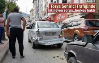 Tosya Şehiriçi Trafiğinde Trafik Kazası