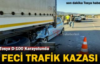 Tosya D-100'de Feci Trafik Kazası