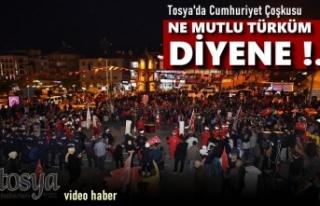 Tosya'da Cumhuriyet Bayramı Fener Alayı