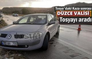 Tosya'da Kaza sonrası Düzce Valisi Aradı