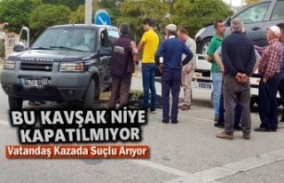 Tosya Trafo Kavşağında Trafik Kazası