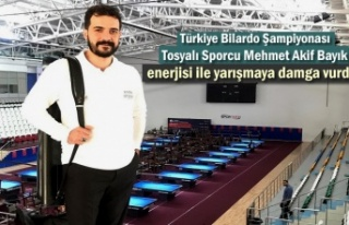 Tosyalı Sporcu Türkiye Bilardo Şampiyonasında...