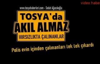 Tosya'da Motosiklet Hırsız Zanlısının Evinden...