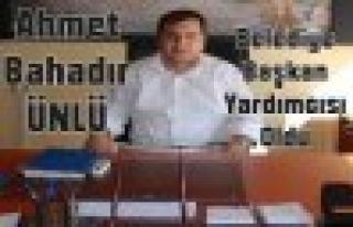 Ahmet Bahadır Ünlü Belediye Başkan Yardımcısı...
