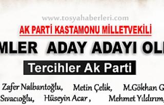 AK PARTİ KASTAMONU MİLLETVEKİLİ ADAY ADAYLARI