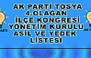 Ak Parti Tosya İlçe Teşkilat Listesi