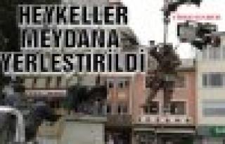 Atatürk Büstü ve Heykeller Tosya Cumhuriyet Meydanına...