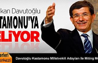 Başbakan Davutoğlu Kastamonu'ya Geliyor