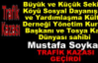 Başkan Mustafa Soykan Trafik Kazası Geçirdi