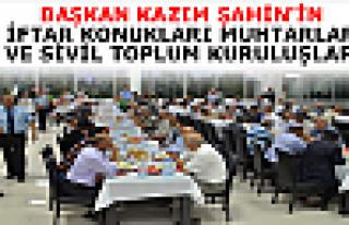 Başkan Şahin STK ve Muhtarlara İftar Yemeği Verdi.