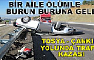 BİR AİLE ÖLÜMLE BURUN BURUNA GELDİ