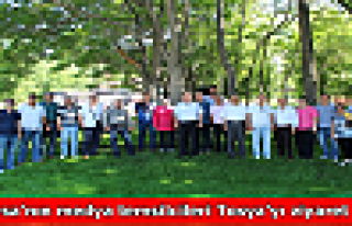 Bursa'nın medya temsilcileri Tosya'yı ziyaret...