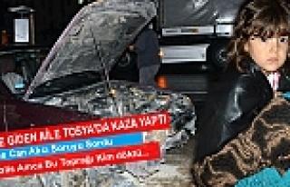 CENAZEYE GİDEN 5 KİŞİLİK AİLE TOSYA'DA KAZA...