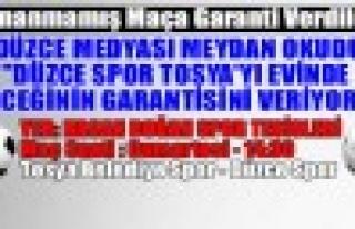 Düzce Medyası Oynanmamış Maça Garanti Verdi