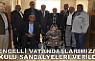 ENGELLİ VATANDAŞLARIMIZA AKÜLÜ SANDALYELERİ VERİLDİ