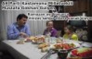 Gülşen vatandaşın sofrasında iftar açtı