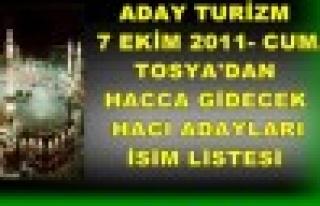 Tosya Hac Kafilesi 7 Ekim 2011 Cuma günü gidiyor