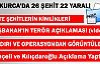 Hakkari Çukurca'da 26 Askerimiz Şehit oldu Video...