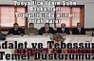 İlçe İdare Şube Başkanları Toplantısı yapıldı.