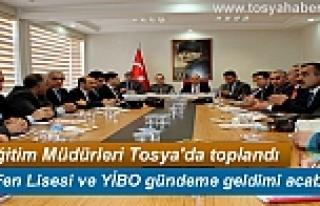 KASTAMONU İLÇE MİLLİ EĞİTİM MÜDÜRLERİ TOSYA'DA...