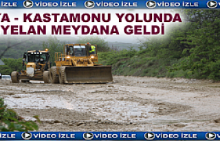 KASTAMONU - TOSYA YOLUNDA HEYELAN MEYDANA GELDİ