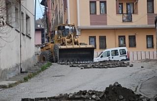 Meraşi Abdurrahman Paşa Camii yolları yeniden düzenleniyor