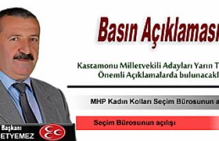 MHP Tosya İlçe Teşkilatından Bildirilmiştir.