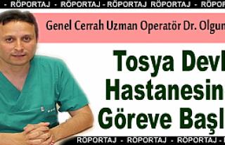 Operatör Dr. Olgun Öztürk Tosya Devlet Hastanesinde...