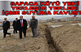 Sapaca Köyü yeni yerleşim alanları suya kavuştu.