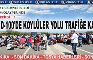 Son Dakika - AKBÜK KÖYÜ D-100 TRAFİĞE KAPATTI