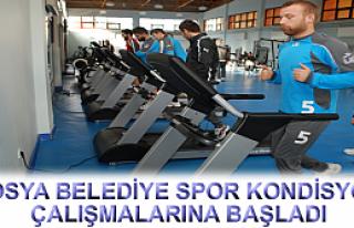 TOSYA BELEDİYE SPOR KONDİSYON ÇALIŞMALARINA BAŞLADI...