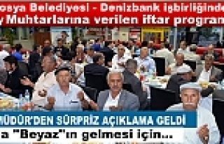TOSYA BELEDİYESİ İFTAR YEMEĞİNE ''BEYAZ''DAMGA...